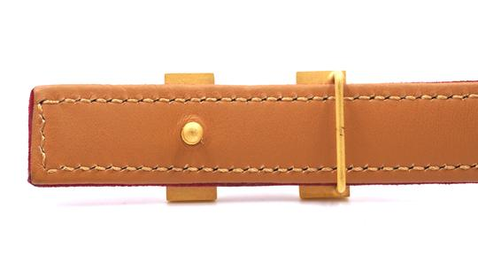 Hermès Rare 18Mm Gold H Size 65 Reversible leather Belt Image 4