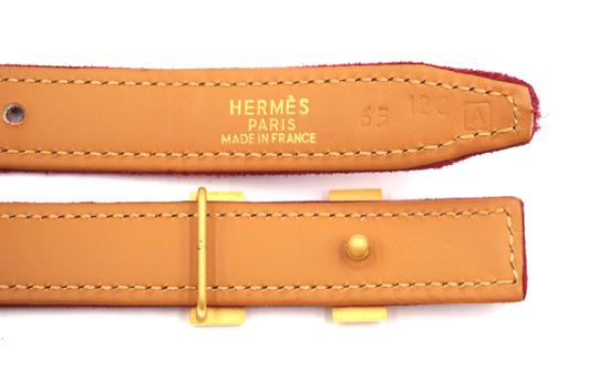 Hermès Rare 18Mm Gold H Size 65 Reversible leather Belt Image 8