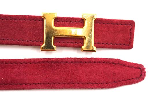 Hermès Rare 18Mm Gold H Size 65 Reversible leather Belt Image 7