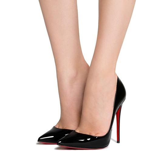 Christian Louboutin Heels Stiletto So Kate Patent Black Pumps Image 1