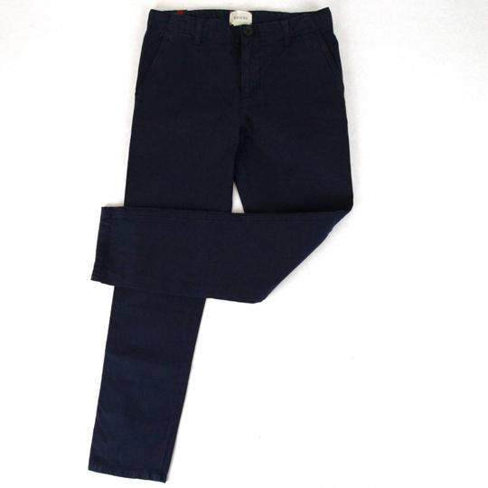 Gucci Navy Cotton Pant with Grg Web Gold Bee Detail 8 431164 4180 Groomsman Gift Image 1