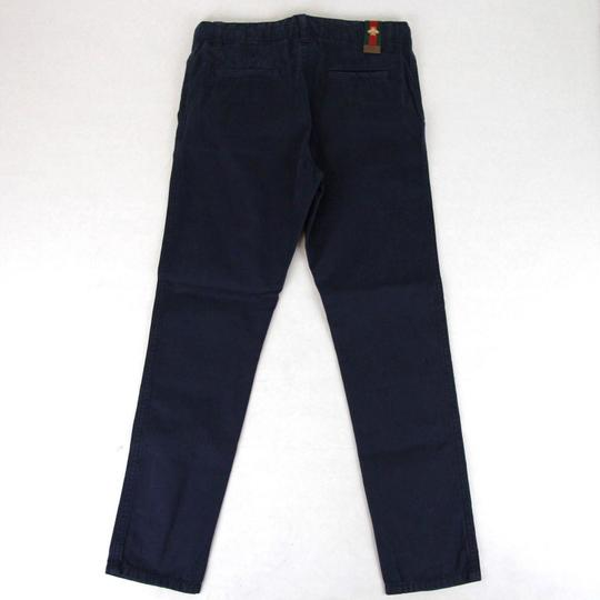 Gucci Navy Cotton Pant with Grg Web Gold Bee Detail 8 431164 4180 Groomsman Gift Image 2