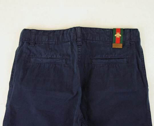 Gucci Navy Cotton Pant with Grg Web Gold Bee Detail 8 431164 4180 Groomsman Gift Image 3