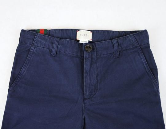 Gucci Navy Cotton Pant with Grg Web Gold Bee Detail 8 431164 4180 Groomsman Gift Image 4