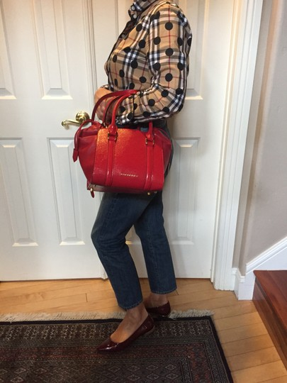 Burberry Tote in Deep Red Image 10