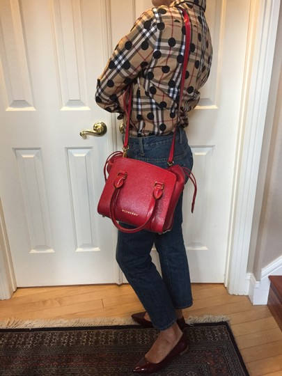 Burberry Tote in Deep Red Image 11