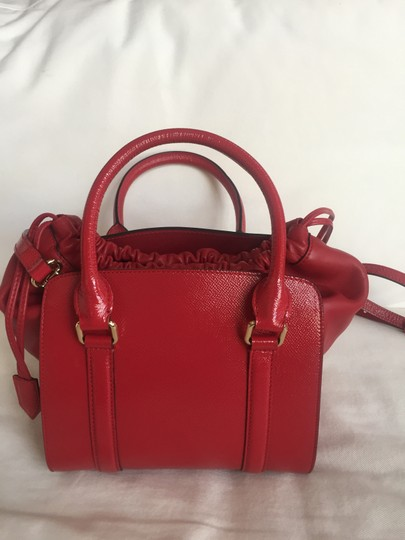 Burberry Tote in Deep Red Image 3