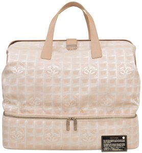 Chanel Duffle Gym Carry On Suitcase Sac Sport Beige Travel Bag