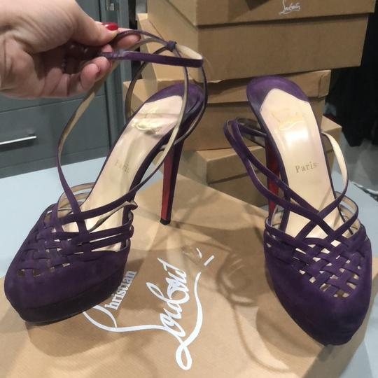 Christian Louboutin purple Platforms Image 2