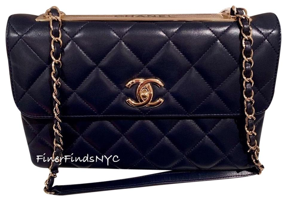 e3900a9ce80835 Chanel Trendy Cc Flap Woc Navy Lambskin Leather Shoulder Bag - Tradesy