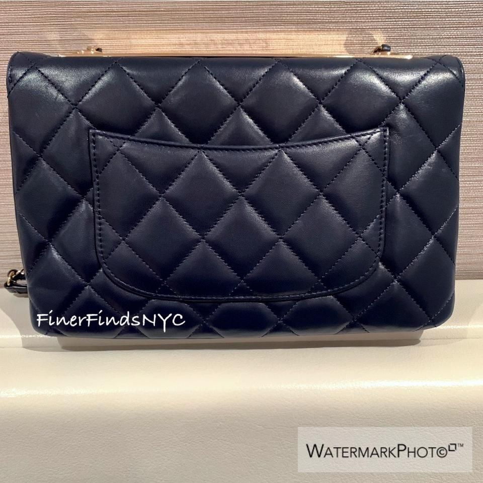 f675bbd4ccd1 Chanel Wallet on Chain Trendy Cc Flap Navy Lambskin Leather Shoulder Bag -  Tradesy