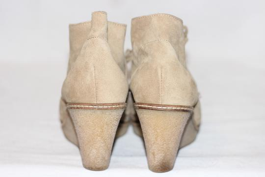 J.Crew Ankle Italian Suede Crepe Wedge Beige Boots Image 1