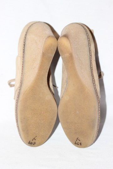 J.Crew Ankle Italian Suede Crepe Wedge Beige Boots Image 2