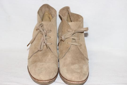 J.Crew Ankle Italian Suede Crepe Wedge Beige Boots Image 5