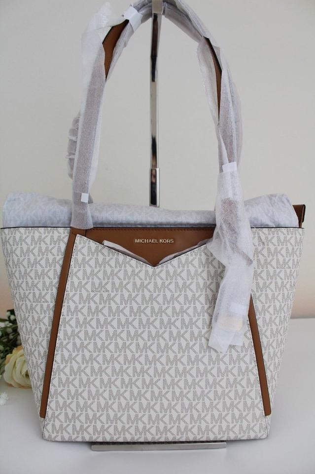 9b45b1be58b6 Michael Kors Signature Whitney Medium Vanilla Gold Tote - Tradesy