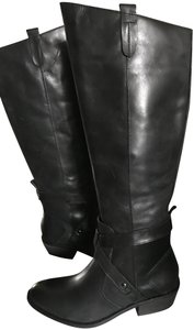 Dolce Vita Riding Leather Black Boots