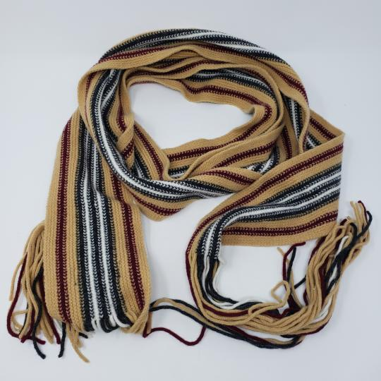Burberry Tan multicolor Burberry London striped lambswool scarf Image 1