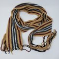 Burberry Tan multicolor Burberry London striped lambswool scarf Image 3