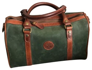 Timberland Satchel in brown and deep green