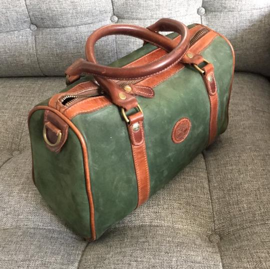 Timberland Satchel in brown and deep green Image 1