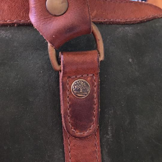 Timberland Satchel in brown and deep green Image 11
