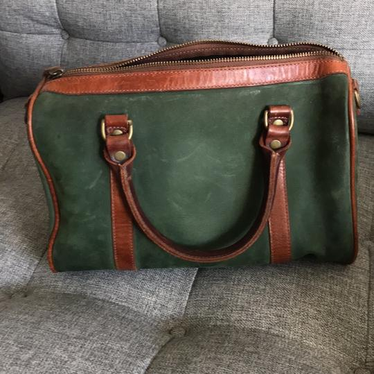 Timberland Satchel in brown and deep green Image 3