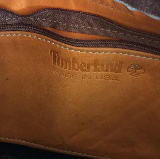 Timberland Satchel in brown and deep green Image 5