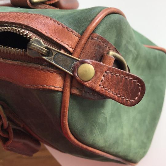 Timberland Satchel in brown and deep green Image 6