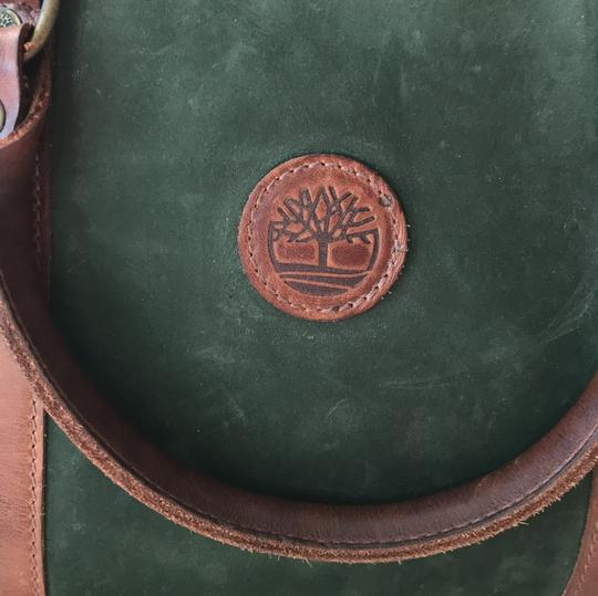Timberland Satchel in brown and deep green Image 8