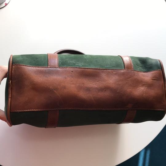 Timberland Satchel in brown and deep green Image 9