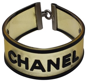 Chanel Rubber Chanel monogram embellished clover bracelet