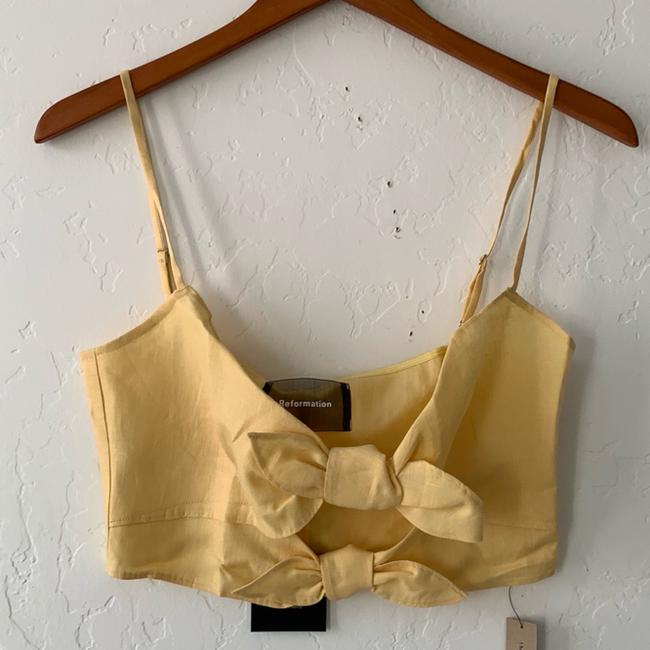 Reformation Top yellow Image 8