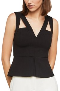 BCBGMAXAZRIA Bcbg Exclusive V-neck Peplum Hailee Top Black