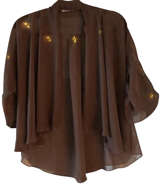 Preload https://img-static.tradesy.com/item/24580517/brown-lightweight-cover-up-ponchocape-size-6-s-0-1-650-650.jpg