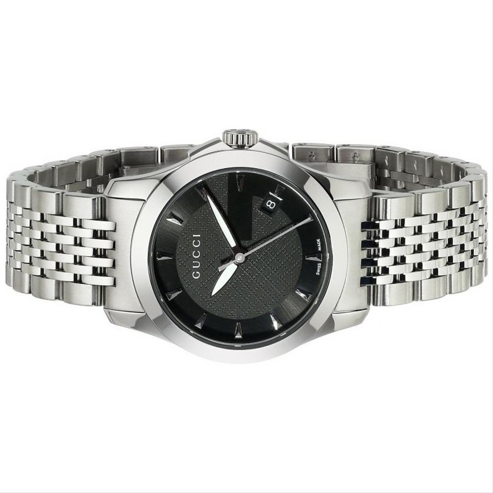 c9715498eb5 Gucci Silver G-timeless Black Dial Ya126502 Womens Watch - Tradesy