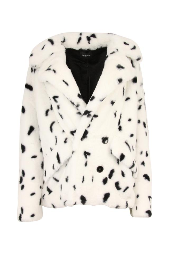 4563a7d3f61 The Kooples White Spotted Faux-fur Jacketz Coat Size OS (one size ...