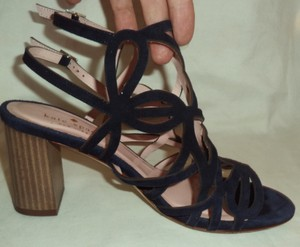 Kate Spade Suede Strappy Navy Blue Sandals