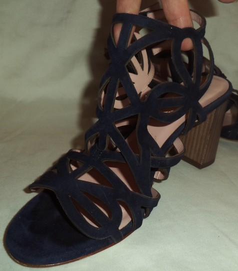 Kate Spade Suede Strappy Navy Blue Sandals Image 1