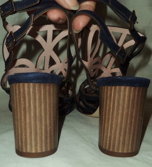 Kate Spade Suede Strappy Navy Blue Sandals Image 3