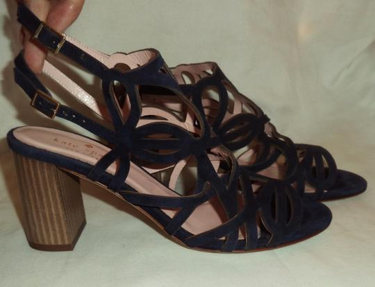 Kate Spade Suede Strappy Navy Blue Sandals Image 4