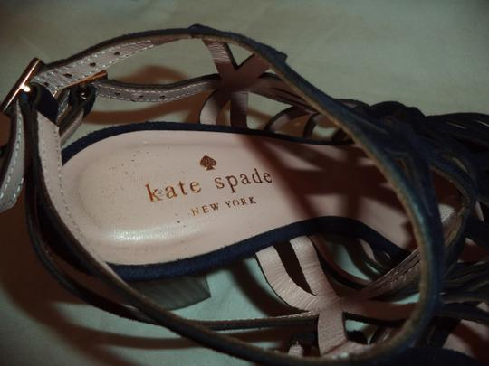Kate Spade Suede Strappy Navy Blue Sandals Image 5