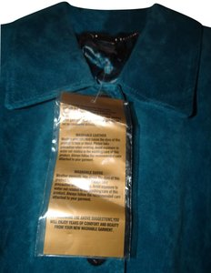 Dennis Basso Leather Classic Elegance Never Worn Mint Machine Washable Trench Coat