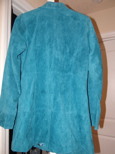 Dennis Basso Leather Classic Elegance Never Worn Mint Machine Washable Trench Coat Image 1