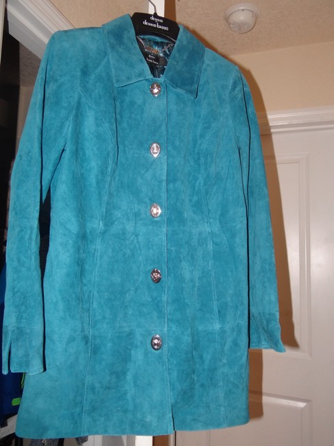 Dennis Basso Leather Classic Elegance Never Worn Mint Machine Washable Trench Coat Image 2