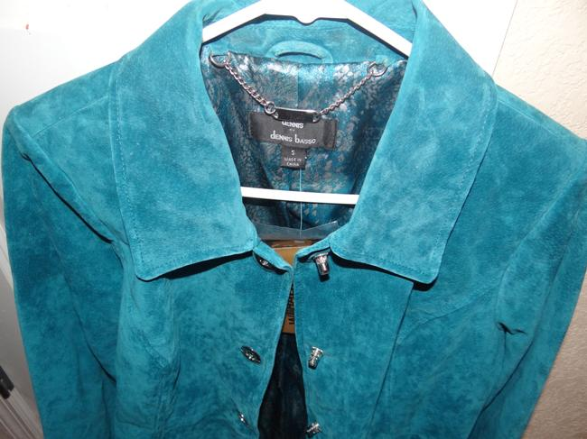 Dennis Basso Leather Classic Elegance Never Worn Mint Machine Washable Trench Coat Image 4