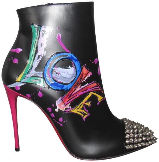 Preload https://img-static.tradesy.com/item/24580639/christian-louboutin-multicolor-black-version-new-love-is-a-100-painted-spike-ankle-bootsbooties-boot-0-4-540-540.jpg