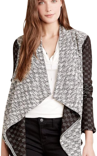 Preload https://img-static.tradesy.com/item/24580689/anthropologie-black-and-white-luci-cardigan-size-8-m-0-2-650-650.jpg