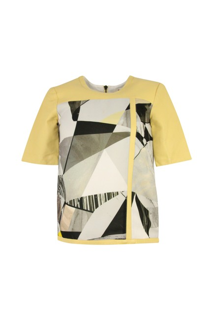 Preload https://img-static.tradesy.com/item/24580727/helmut-lang-yellow-leather-short-sleeve-blouse-size-2-xs-0-0-650-650.jpg