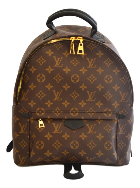 Item - Palm Spring Mm Monogram Brown and Black Coated Canvas Backpack