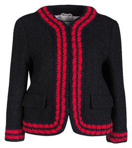 Gucci Textured Knit Cotton Viscose Black Jacket